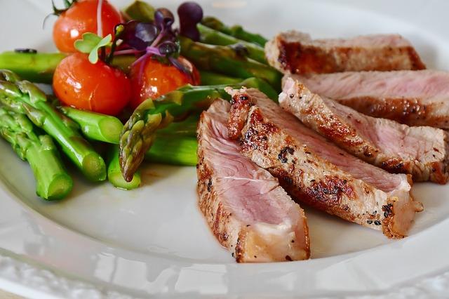 steak s chřestem