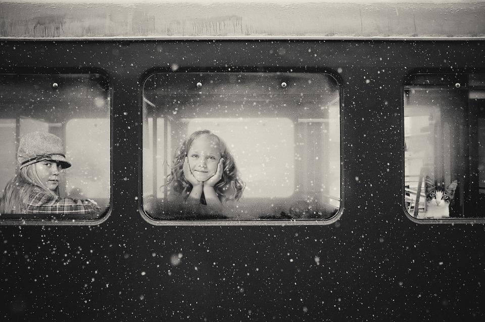 okno vlaku